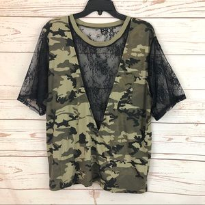 Furst of a Kind Camo Lace Obey Oversized Tee